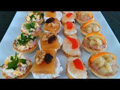 Haz canapés (elegantes y bonitos ❤️) - YouTube Ideas Para Canapés, Canapes Faciles, Tapas, Vegetable Tart, Italian Vegetables, Saveur, Sushi, Food And Drink, Snacks