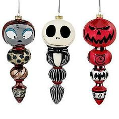 Nightmare Before Christmas Disney 3 PC Ornament Set | eBay