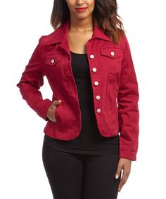 Loving this Cranberry Jacket on #zulily! #zulilyfinds