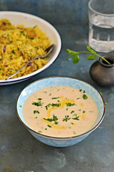 Vrat ki Rajgira kadhi- Amaranth flour soup is such a comforting & soulful food especially for those chilly days. Typically made during Navratri for fasting, this is a Gluten free and low calorie healthy soup