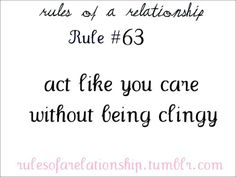 Rules of a Relationship Rule Act like you care without being clingy. Distance Love Quotes, Distance Relationship Quotes, Relationship Advice, Relationships, I Love You Words, Why I Love Him, What Is Love, My Heart Quotes, Boy Quotes