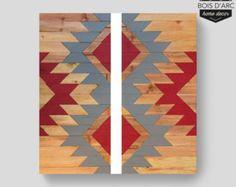The Aspen Home Decor Wood Wall Art Wooden Decor by BoisDArcHome