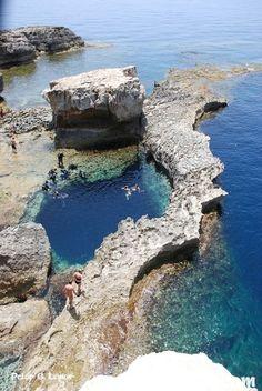 The blue hole in Dwejra Gozo/Malta.