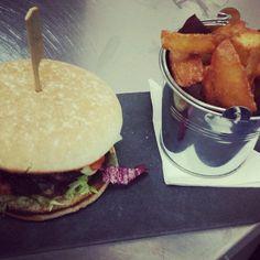 Char grilled cheese burger. New menu #ashornehill