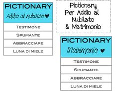 Pictionary Per Addio Al Nubilato! Pictionary per Matrimonio