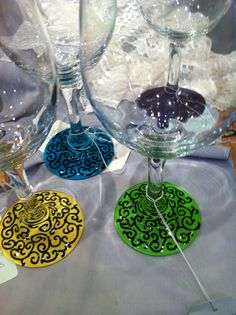 Painted wine glasses by finDesign!  http://m.facebook.com/pages/FinDesign