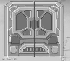 Sci Fi Door by Hupie