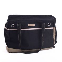 Dogo Canvas Big Black Tote Pet Dog Carrier 17'x13'x 8' ** Don't get left behind, see this great dog product : Products for dogs