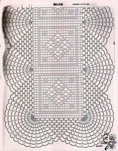 See how diversities of crochet patterns with various ideas with free graphics Crochet Doily Diagram, Crochet Motif Patterns, Filet Crochet Charts, Crochet Blocks, Crochet Squares, Crochet Designs, Crochet Table Runner, Crochet Tablecloth, Thread Crochet