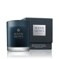 Molton Brown Black Leather Accord Cade Candle Is London Via Russia Unexplored Terrains And Puzzling Scents This Scented Has A Unique