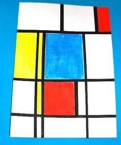 Peindre un tableau à la manière de Mondrian pour les enfants à partir de 2 ans