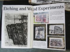 Beaumont School: GCSE Etching and Wood transfers