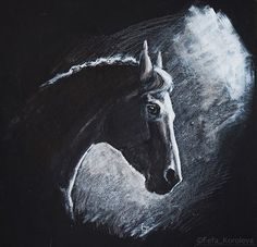 Fefa Koroleva shared art of Fefa Koroleva's photo to the group: Equestrian artists. · Moscow, Russia ·  A portrait of hannoverian mare Ave Maria Materials; cartboard, inc, acryl Size 34x34cm Drawn to order