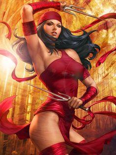 ImagineFX Bookazine - Elektra by `Artgerm on deviantART
