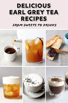 Iced tea, hot tea, tea lattes and decadent sweets all made with Earl Grey! These delicious tea recipes are simple to make and perfect any time of year! Peach Ice Tea, English Breakfast Tea, Bite Size Appetizers, Earl Grey Tea, Latte Recipe, Tea Latte, Yummy Food, Tasty, Tea Sandwiches
