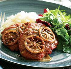 Pork Scaloppine with Prosciutto, Sage & Caramelized Lemon - Looks delicious. Please use La Quercia Prosciutto!