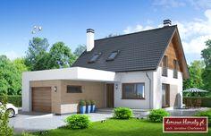 Projekt domu Czajka II , wizualizacja 1 Ideas Para, New Homes, Outdoor Decor, House, Home Decor, World, Decoration Home, Home, Room Decor