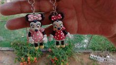 Mis primeros llaveros de minnie en porcelana fria...por: Miriam Rivera...