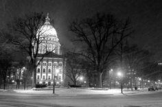 Frigid Capitol. Madison, Wisconsin.