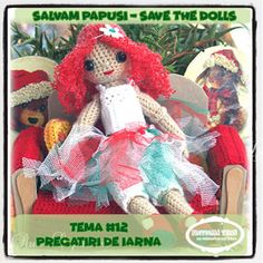 "Provocari Verzi - Metamorfoza unui fluture -: Salvam Papusi // Save the Dolls ""Pregatiri de Iarna"" Challenges, Teddy Bear, Dolls, Christmas Ornaments, Holiday Decor, Animals, Home Decor, The Originals, Xmas Ornaments"