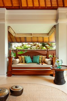 The Villas @ Nikko Bali Resort & Spa Balinese Interior, Bohemian Interior, Villa Design, House Design, Indonesian Decor, Bali Decor, Hawaiian Homes, Interior Styling, Interior Design