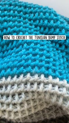 Tunisian Crochet Patterns, Crochet Stitches For Beginners, Tunisian Crochet Stitches, Crochet Videos, Crochet Basics, Knitting Patterns, Knitting For Beginners, Beginner Crochet Blankets, Unique Crochet Stitches