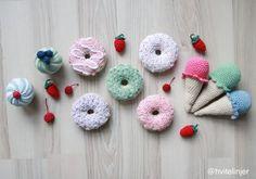 Spisebord - DIY   HVITELINJER Donuts, Crochet Earrings, Diy, Frost Donuts, Beignets, Bricolage, Do It Yourself, Homemade, Diys