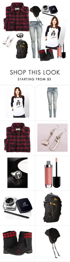 """The Lumberjack"" by nekochii911 ❤ liked on Polyvore featuring Black Score, H&M, Stolen Girlfriends Club, Marc Jacobs, Gregory, Skechers and Nixon"