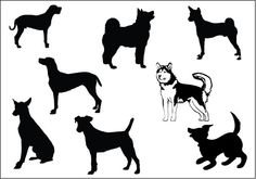 Dog Silhouette Vector Pack - Silhouette Clip Art
