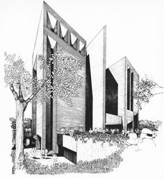 Library Learning Center, University of Wisconsin, Madison, 1972 (Project) - (Daverman Associates)
