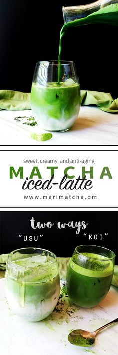 For this Matcha latte recipe, I wanted to honor the two traditional ways Matcha is prepared in traditional Japanese tea ceremonies. With a slight modern twist, I have made the Usu and Koi of a Matcha latte... #love #matcha #macha #抹茶 #お茶 #matchatea #matchalatte #matchalover #matchalovers #matchagreentea #matchaholic #matchaddict #greentea #greentealatte #tea #tealover #health #antioxidants #organic #natural #detox #japan #日本 #matcharecipe #recipe #recipes #antioxidants #healthy