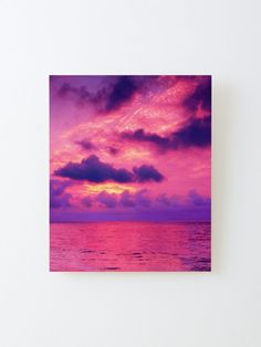 Alternate view of Colorful Tropical Sunset Waters Mounted Print Tree Wall Art, Wall Art Decor, Nature Decor, Naturally Beautiful, Wood Print, Tropical, Colorful, Sunset, Water