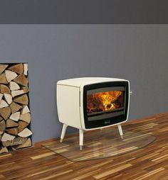 Kachel free-standing fireplace