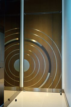 This handle has been employed as part of the door's overall design offering a sense of symmetry and rhythm.