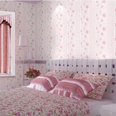 29.61$  Know more - http://aifto.worlditems.win/all/product.php?id=32349715232 - papel de parede. Modern Bow wide striped non woven wallpaper textured effect warm Girls dolls house bedroom background wall wall