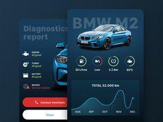 BMW Dashboard and diagnostics - App Templates - Ideas of App Templates - BMW Dashboard and diagnostics by Luka Perić Dashboard Car, Dashboard Design, Application Design, Mobile Application, Auto App, Best Turbo, Car App, Graph Design, Ux Design