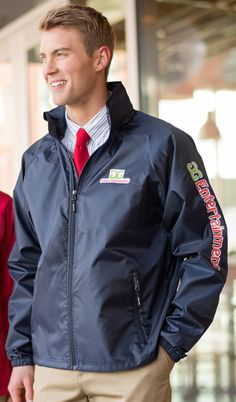 Stay dry in our Men's Hooded Rain Jacket #3435.