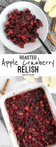 Roasted Apple Cranberry Relish is a thick, jam-like condiment whose uses go far beyond the Thanksgiving table. @budgetbytes