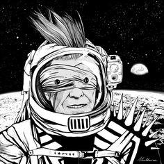 Illustration of David Bowie by Shaltmira David Bowie Starman, David Bowie Tribute, David Bowie Art, Wild Is The Wind, Plasma, Life On Mars, Fantastic Art, Creative Photos, Artist Names