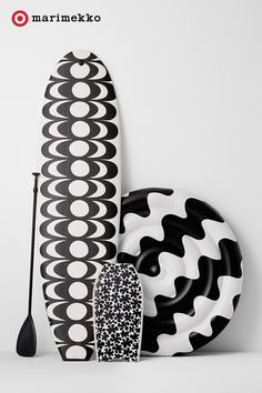 Marimekko for Target Paddleboard 2 pc set - Kaivo Print - Black Kids Office, Kids Dressers, Marimekko, Scandinavian Design, Summer Fun, Target, Black And White, Clothes For Women, Gifts