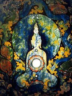 Buddha paint art
