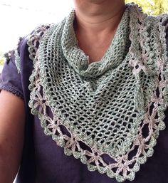 Kefia', piccolo fazzoletto triangolare da collo in cotone verde melange : Sciarpe, foulard, cravatte di la-libe