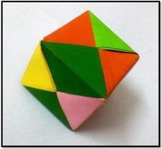 How to make an Origami Cube.  Hmmm...I wonder if this could be made with stiffened fabric.