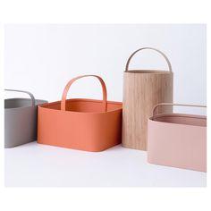 "Modern Minimalist baskets  ""Baskets by @studiogorm, one of 13 studios who visited Hancock Shaker Village and designed Shaker-inspired works."""