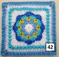 Ravelry: Maryfairy's B.A.W.L. CAL Baby Blue Bankets - 3 & 4:
