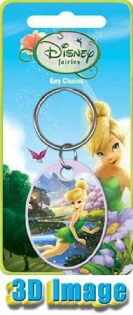Tinkerbell Peter Pan Fairy Disney Officially Licensed Keychain Keyring Color Decorate Fun Three Dimensional 3D