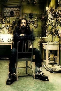 Rob Zombie (American horror & gore film director: House of 1000 Corpses [2003], The Devil's Rejects [2005], Halloween [2007], Halloween II [2009], The Lords of Salem [2013])