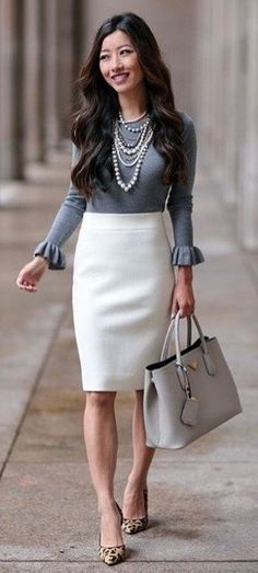 Cute Spring Chic Office Outfits Ideas 54