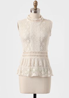 Victorian Romance Crocheted Lace Top at #Ruche @Ruche