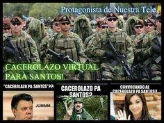 #CacerolazoVirtualPaSantos!!! #NoMasJuanManuelSantos